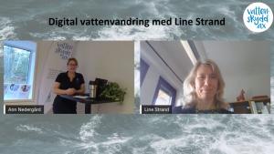 Digital vattenvandring med Line Strand